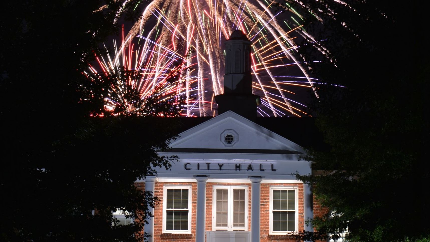 Fireworks over City Hall