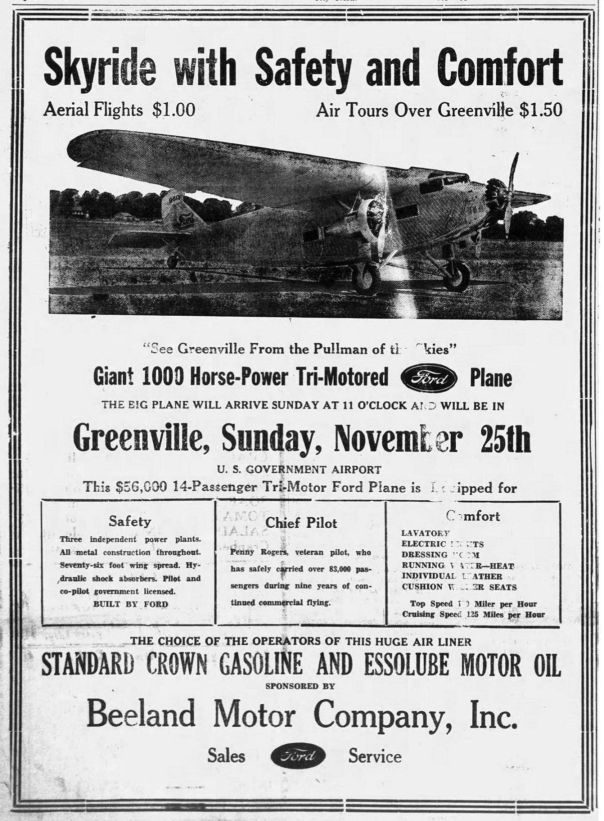 Airport sky rides ad - 11-23-1934 - The Advocate