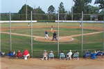 Ball Diamond View from Behind Home Plate